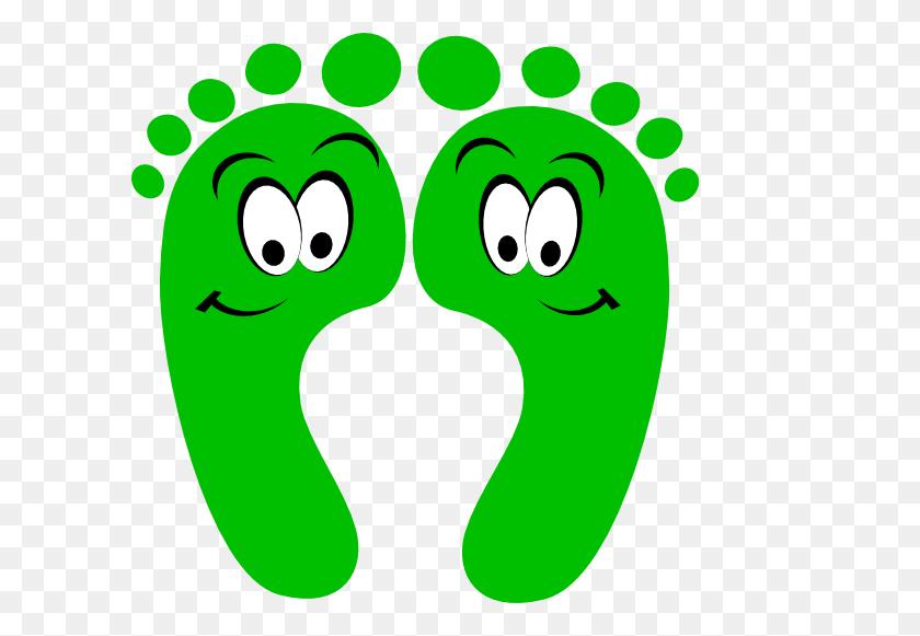 Green Feetprint Hang Ten Dudes Smileys Or Icons - Ten Clipart