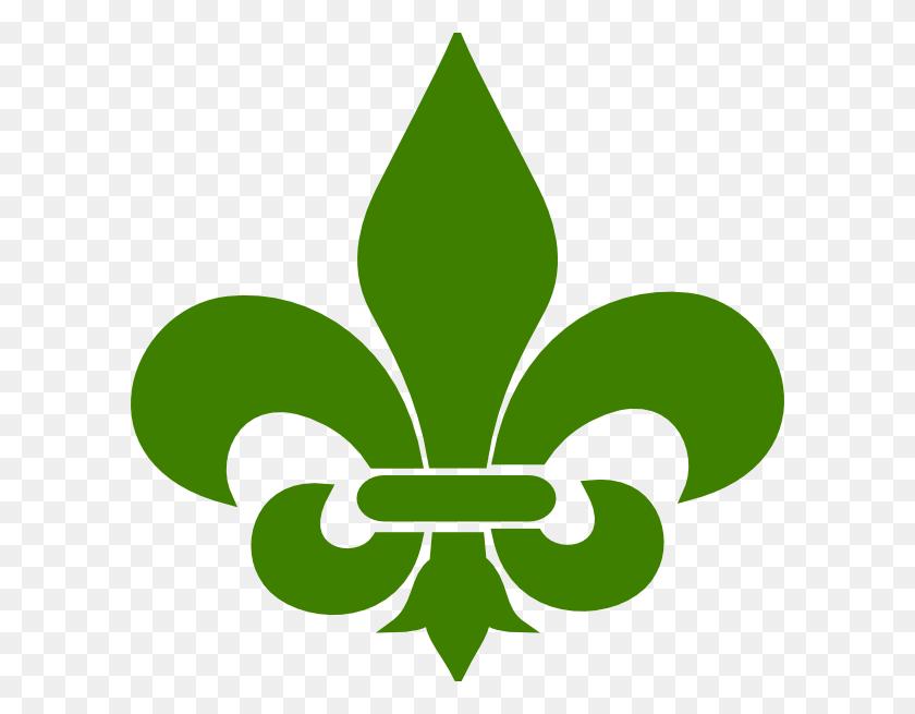 600x595 Green Fleur De Lis Png Clip Arts For Web - Free Fleur De Lis Clip Art