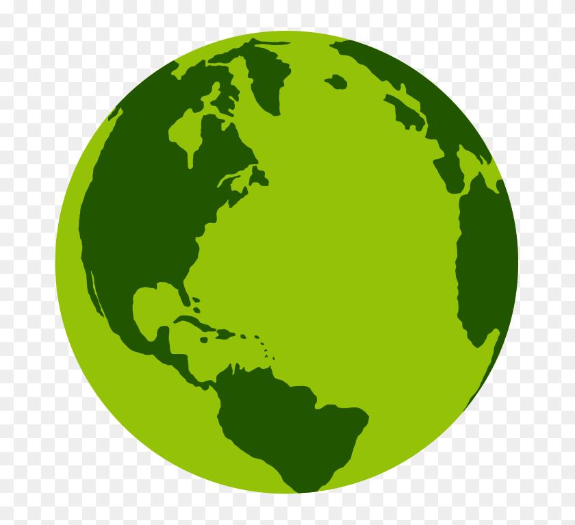 Green Globe Clip Art - World Clipart PNG