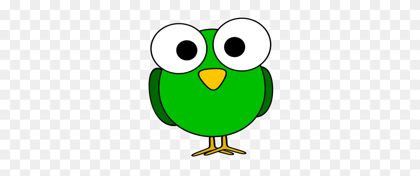Green Googly Eye Bird - Looking Eyes Clipart