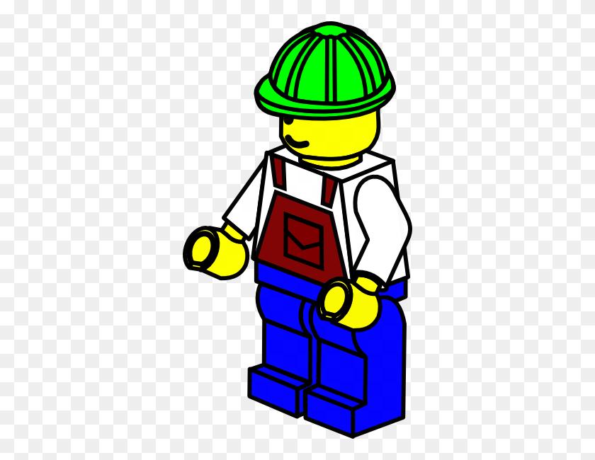 Green Hat Lego Construction Worker Clip Art - Under Construction Clipart