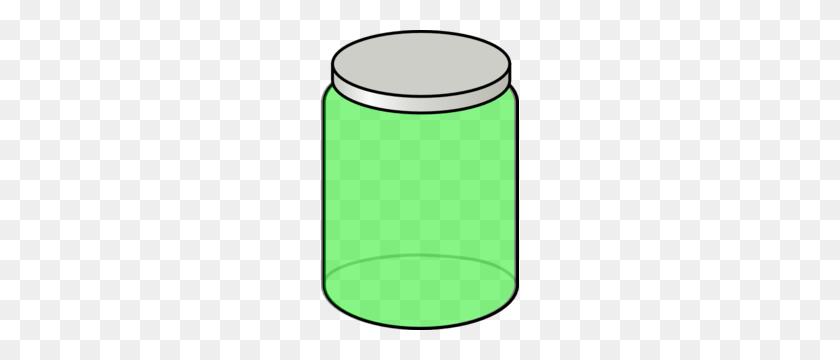 198x300 Green Jar Clip Art - Jar Clipart