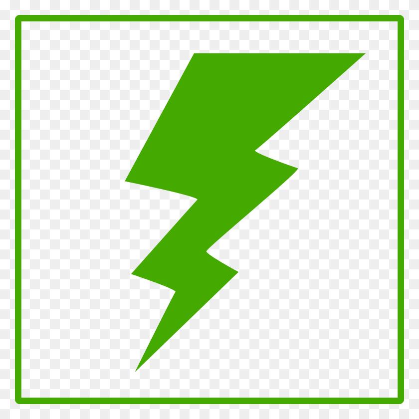 Green Lightning Bolt Clipart - Lightning Bolt Clipart PNG