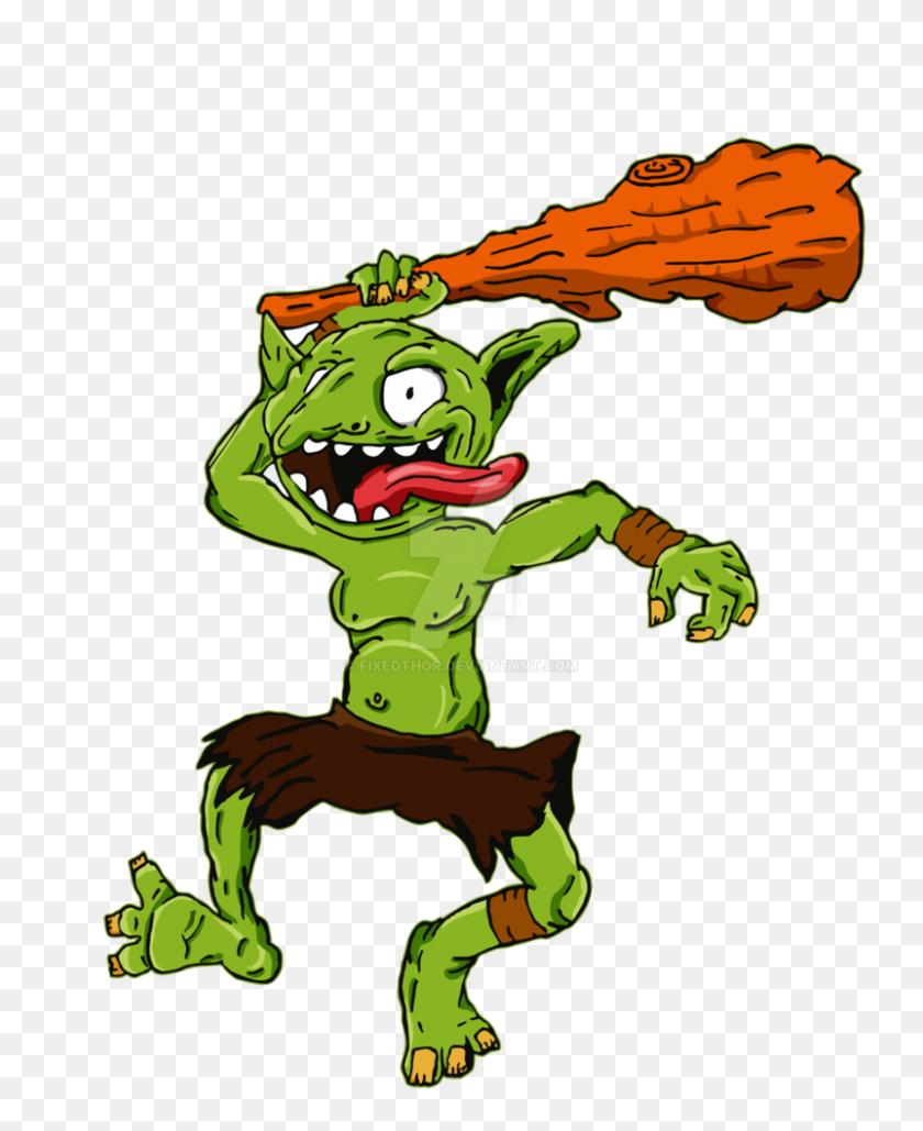 Green Lil Goblin - Goblin PNG