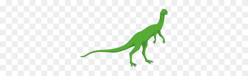 296x198 Green Long Necked Standing Dinosaur Clip Art - Long Neck Dinosaur Clipart