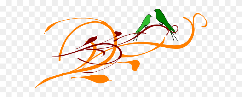 Green Love Birds Png Clip Arts For Web - Love Birds Clipart