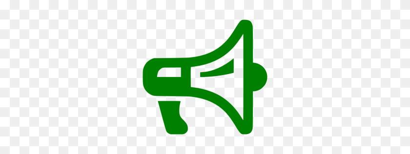 256x256 Green Megaphone Clipart Free Clipart - Megaphone And Pom Pom Clipart