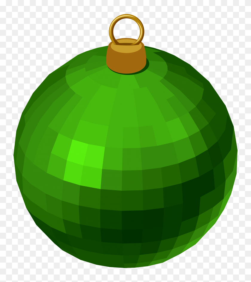 2500x2837 Green Modern Christmas Ball Png Clipart - Christmas Balls Clipart