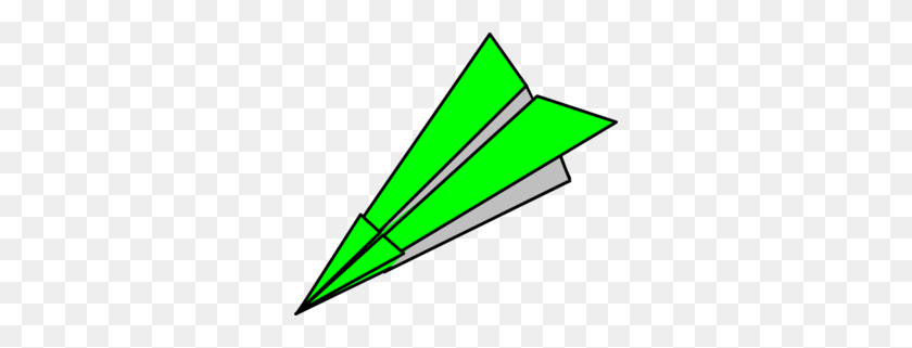 Green Paper Plane Clip Art - Paper Plane Clipart