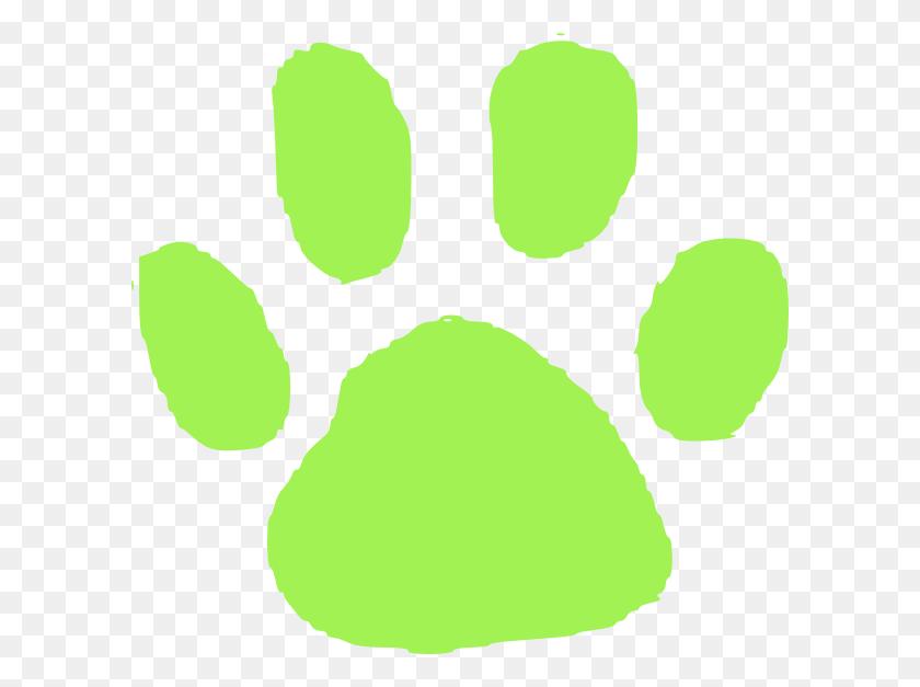 600x567 Green Pet Footprint Clip Art - Mash Clipart