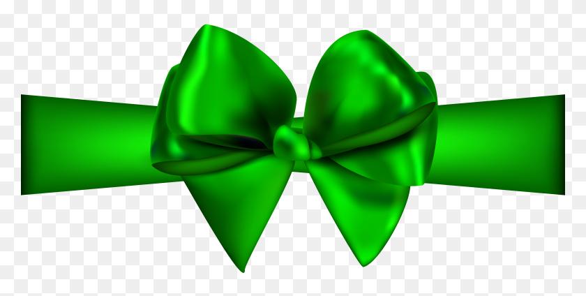 Green Ribbon With Bow Png Clip Art - Ribbon Bow Clipart
