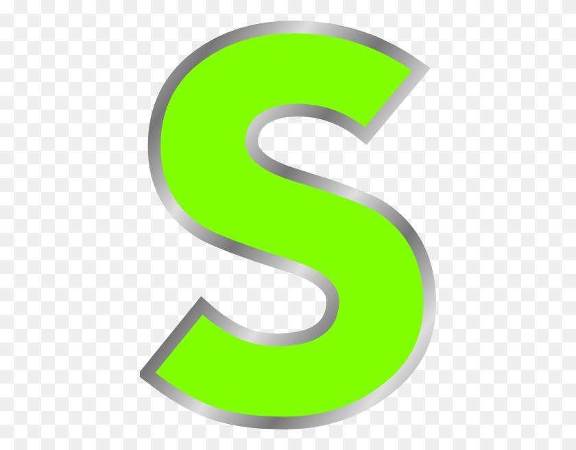 432x597 Green S Clip Art - S Clipart