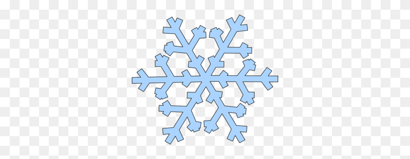 Green Snowflake Clip Art - Simple Snowflake Clipart