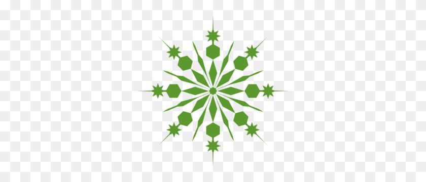 Green Snowflake Clip Art Christmas Snowflakes - Christmas Snowflake Clipart