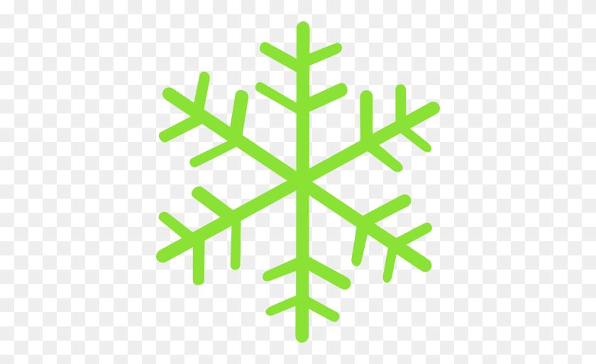 Green Snowflake Snowflakes In Snowflakes - Transparent Snowflake Clipart