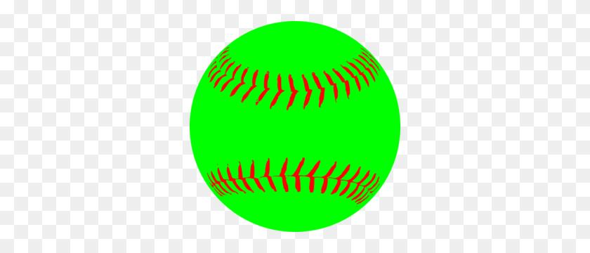 300x300 Green Softball Clip Art - Softball Ball Clipart
