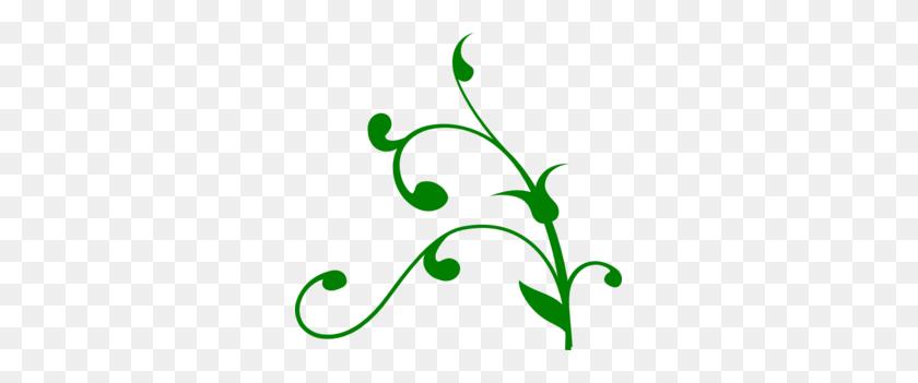 Green Stem Clip Art - Plant Stem Clipart