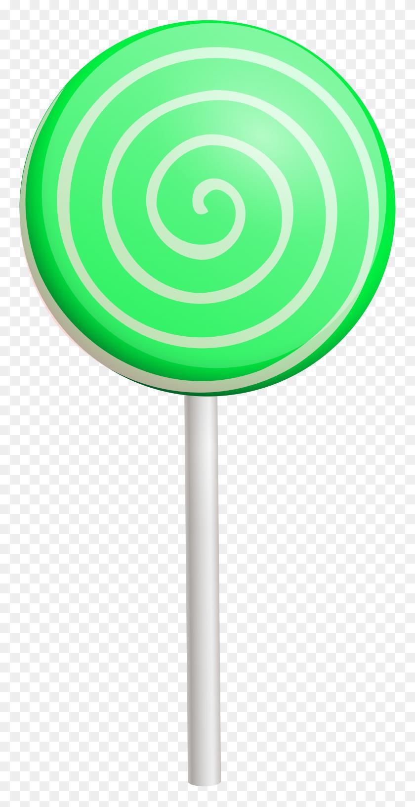 3969x8000 Green Swirl Lollipop Png Clip Art - Lollipop Clipart Free