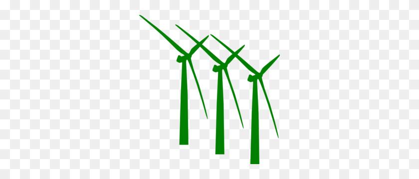 Green Wind Mills Clip Art - Wind Turbine Clipart