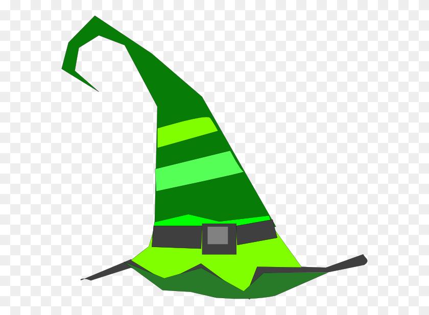 Green Witch Hat Clip Art - Sharpie Clipart