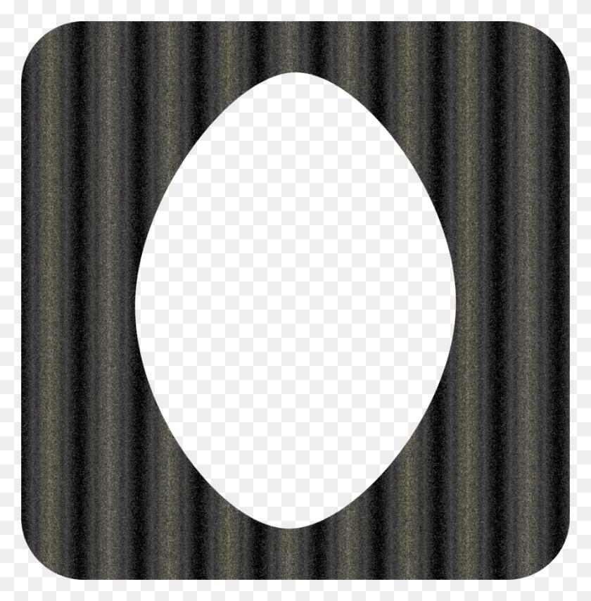 Grey Black Oval Frame - Oval Frame PNG