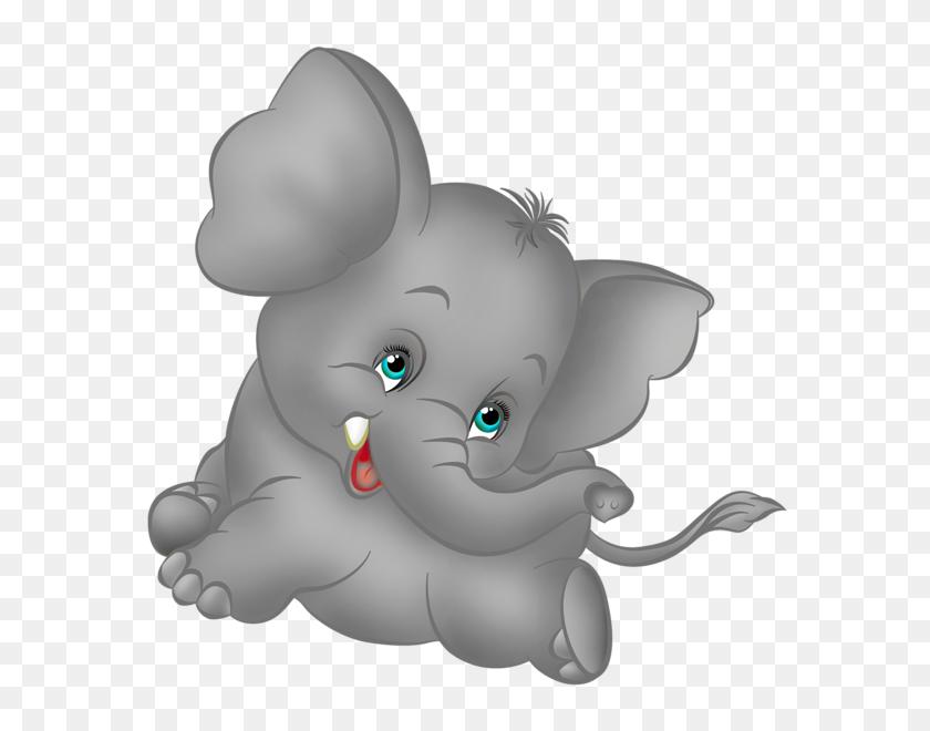 Grey Elephant Cartoon Free Clipart Animaux Grey - Free Baby Elephant Clip Art