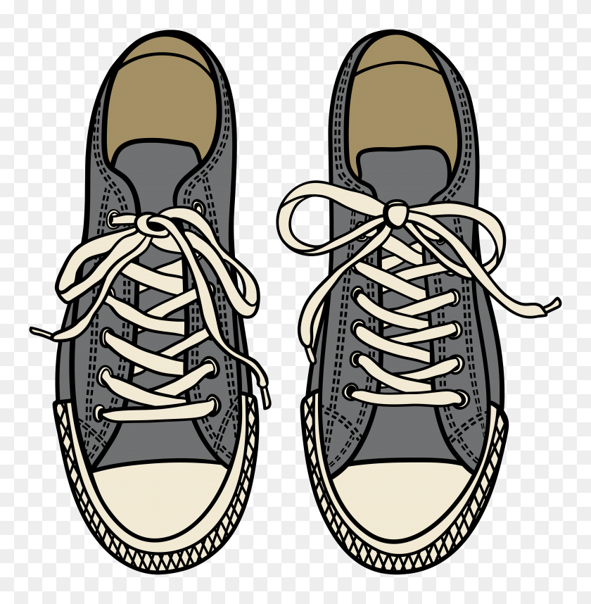 Grey Sneakers Png Clipart - Sneakers PNG