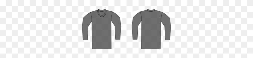 297x135 Grey T Shirt Template Clip Art - T Shirt Outline PNG