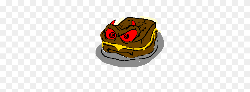 Grilled Cheese Sandwich Is Evil! - Grilled Cheese PNG