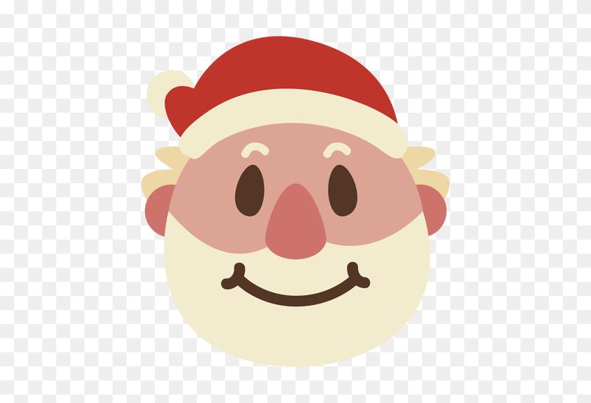 Grin Santa Claus Face Emoticon - Santa Claus Face Clipart