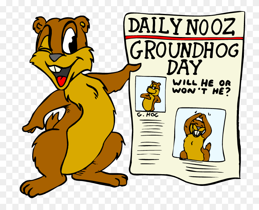 750x620 Groundhog Shadow Morning Clipart Free Image - Monday Morning Clipart