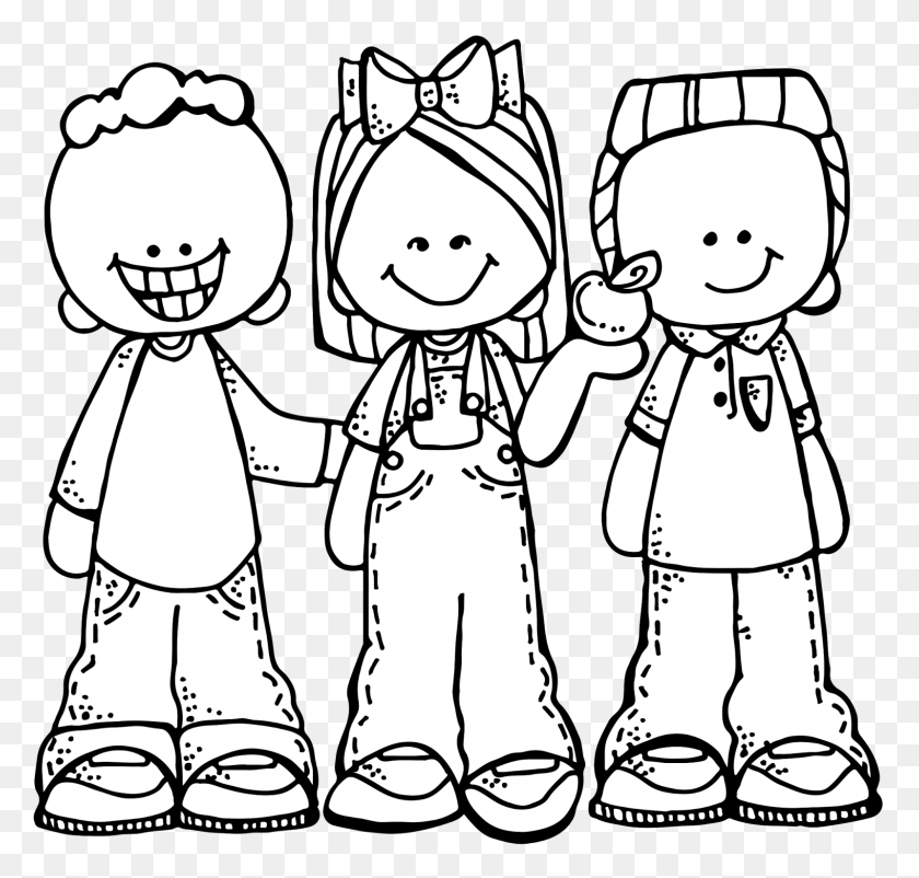 1600x1523 Group Of Students Clipart Black And White - Melonheadz Clipart Black And White