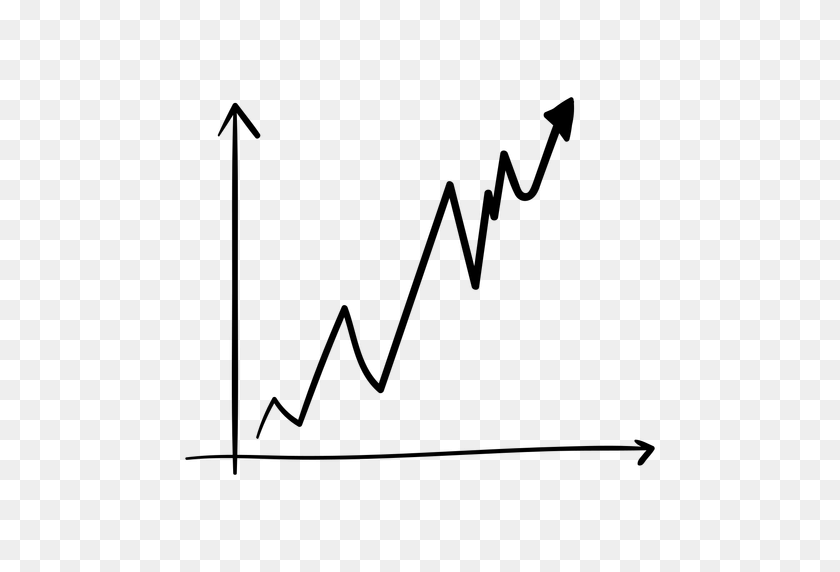 Growth Graph Doodle - Arrow Doodle PNG
