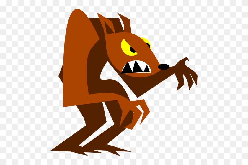 Grumpy Cartoon Wolf Vector Image - Little Red Riding Hood Wolf Clipart