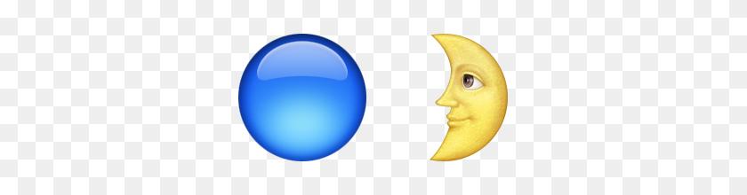 320x160 Guess Up Emoji Blue Moon - Moon Emoji PNG