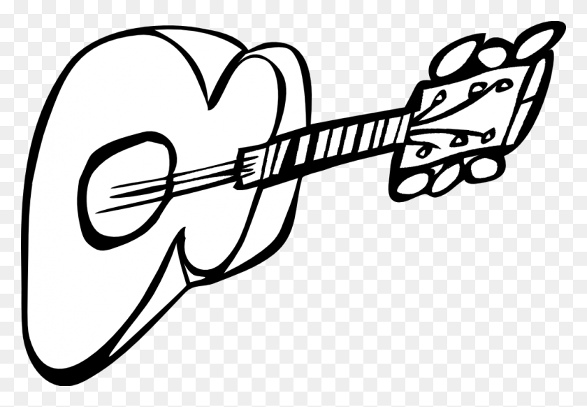Guitar Clipart Black And White - Guitar Clipart Black And White