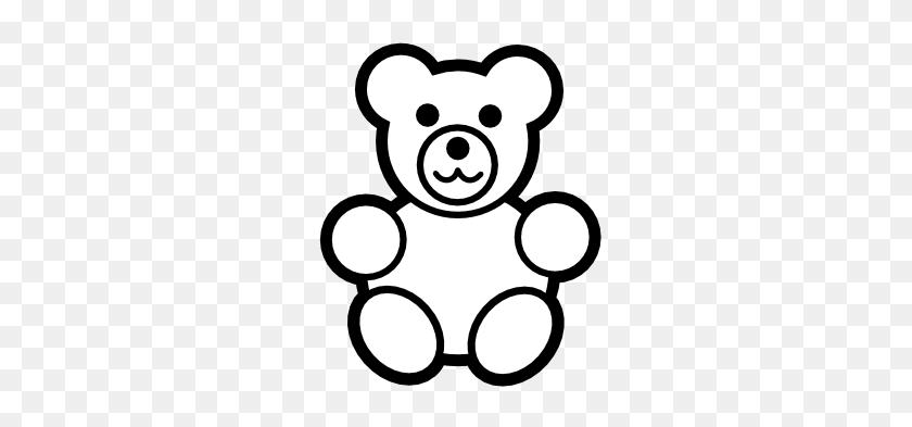 333x333 Gummy Bear Clipart Outline - Bear Outline Clipart