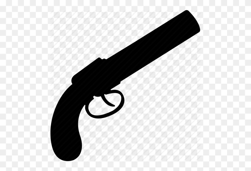 Gun, Hand Gun, Old Hand Gun, Pistol, Weapon Icon - Hand With Gun PNG