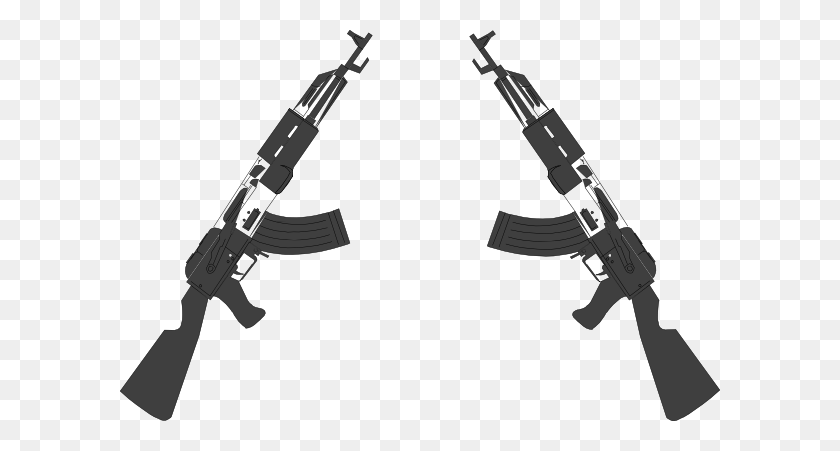 Guns Clip Art - Crossed Guns Clipart