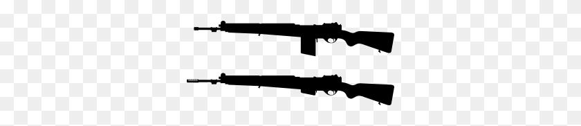 300x122 Guns Silhouette Clip Art - M16 Clipart