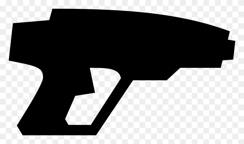 Guns Silhouette Cliparts - Crossed Guns Clipart