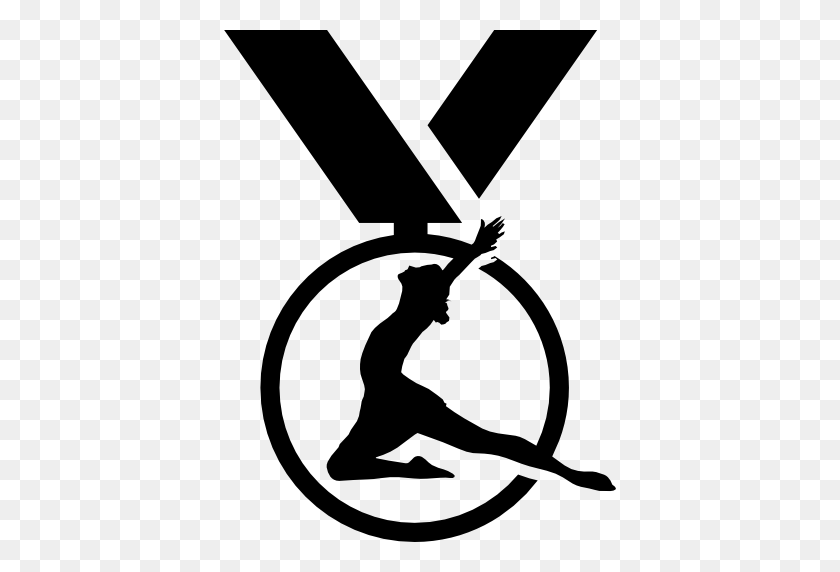 Gymnast Clipart Gymnastics Medal - Medal Clipart Black And White