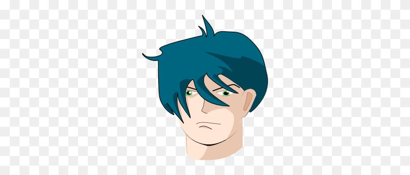 Hair Clipart Blue - Combing Hair Clipart