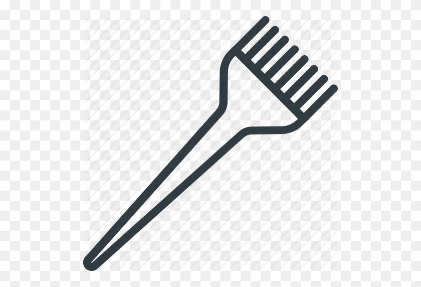 Hair Dye, Hair Dye Brush, Hair Salon, Tinting, Tinting Brush Icon - Hair Brush PNG