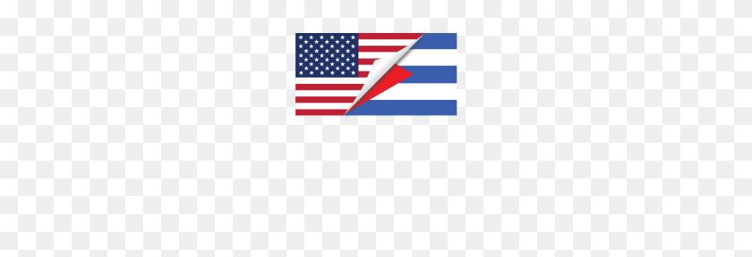 Half American Half Cuban Flag - Cuban Flag PNG