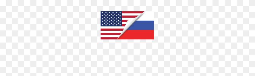 Half American Half Russian Flag - American Flag PNG