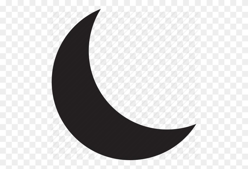 512x512 Half, Moon, Sky, Weather Icon - Moon Vector PNG