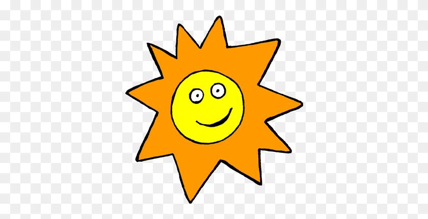 Half Sun Clip Art - Corner Sun Clipart