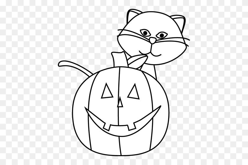 Halloween Black And White Halloween Cat Clipart Black And White - Black And White Clipart Cat