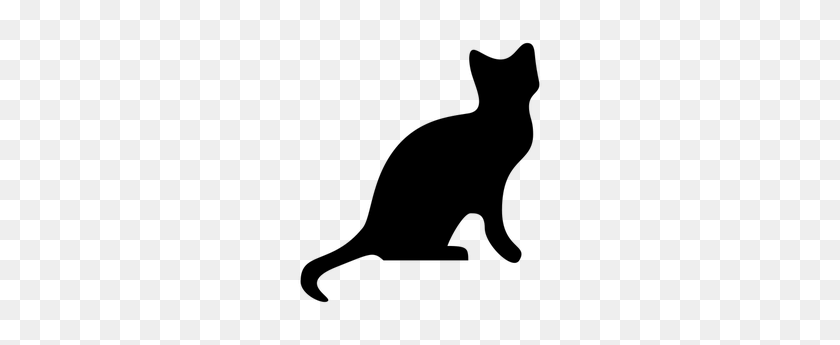 Halloween Black Cat Clip Art Free - Black And White Clipart Cat